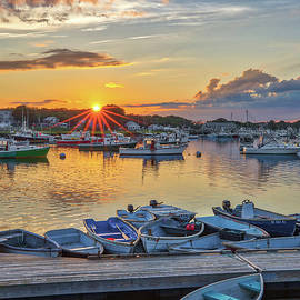 Marshfield Town Pier Sunset Reflection by Juergen Roth