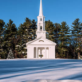 Martha-Mary Chapel under the snow by Jean-Pierre Ducondi