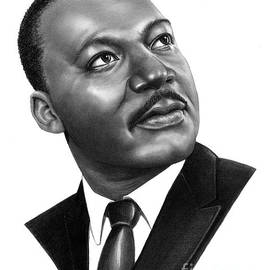 Martin Luther King Jr. drawing by Murphy Art Elliott