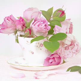 Pink Roses Tea Cup by Denis O' Reilly