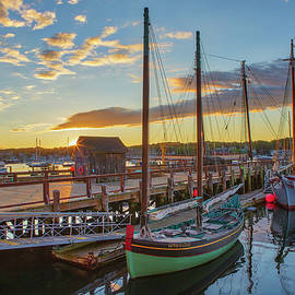 Massachusetts Sunrise at Maritime Gloucester Harbor  by Juergen Roth