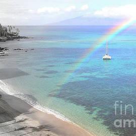 Maui Rainbow Seascape by Michele Hancock