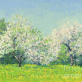 May. Apple trees in bloom. Kolomenskoye Estate by Simon Kozhin