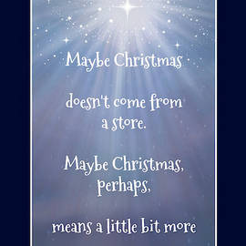 Maybe Christmas Doesn't Come from a Store by Marilyn DeBlock