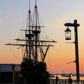 Mayflower II at dawn by Janice Drew