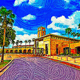 McAllen Convention Center - impressionist painting by Watch And Relax