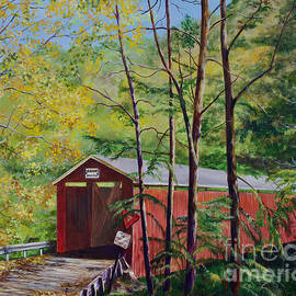McConnell's Mill Covered Bridge by AnnaJo Vahle