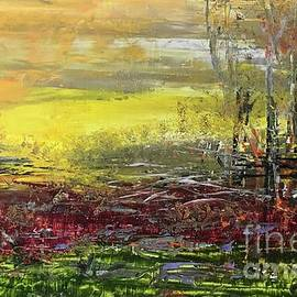 Meadow in sunset  by Maria Karlosak