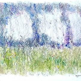 Meadow Under White Clouds by Barbara H Jensen