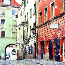 Medieval Street Passau Germany by Tatiana Travelways