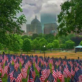 Memorial Day Garden of Flags - Boston Common by Joann Vitali