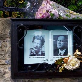 Memorial for Benito Mussolini and Claretta at the site of their execution, Giulino, Mezzegra, Italy. by Joe Vella