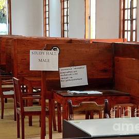 Men read journals newspapers and Internet in male reading room Jaffna Library Jaffna Sri Lanka by Imran Ahmed