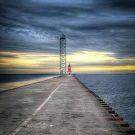 Menominee North Pier Light at Daybreak by Deborah Klubertanz