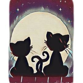 Meowing at the Moon by Eloise Schneider Mote