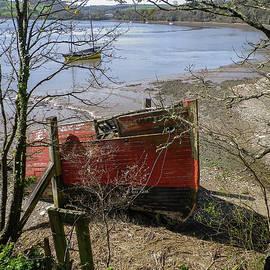 Merganser Hulk Wreck River Tamar Devon by Richard Brookes