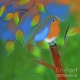 Merging to the orange tone of nature by Latha Gokuldas Panicker