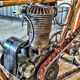 Merkel Antique single cylinder motorcycle engine  by Paul Ward