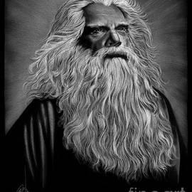 Merlin the Wizard drawing by Murphy Art Elliott