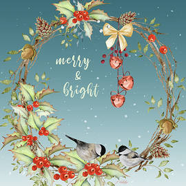 Merry and Bright - Christmas Art by Jordan Blackstone