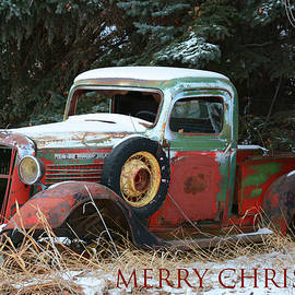 Merry Christmas- Old GMC Truck by Whispering Peaks Photography