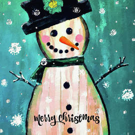 Merry Christmas Snow Lady by Tina LeCour
