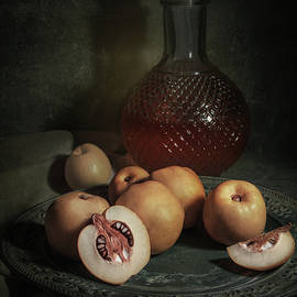 Still life with yellow ripe quinces by Jaroslaw Blaminsky