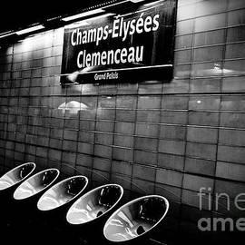 Metro Champ-Elysees Clemenceau Paris. by Cyril Jayant