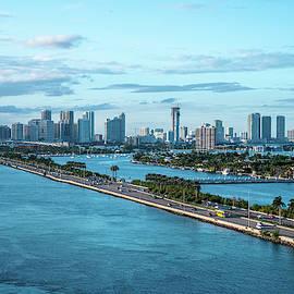 Miami Skyline by Robert J Wagner