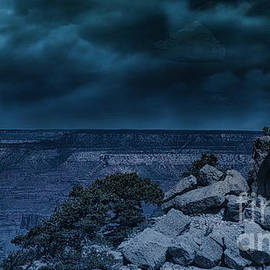 Midnight Moon Over Grand Canyon Awesome  by Chuck Kuhn