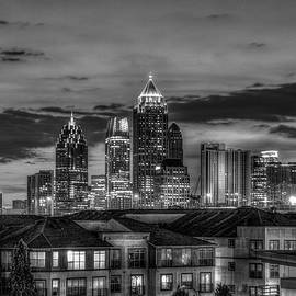 Midtown Atlanta 888 B W Towering Over Atlantic Commons Architectural Cityscape Art by Reid Callaway