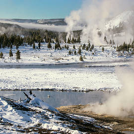 Midway Geyser Basin Yellowstone National Park  by Greg Sigrist