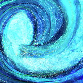 Mighty Big Blue Wave by Peggy Collins