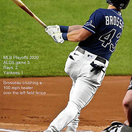 Mike Brosseau, Tampa Bay Rays, baseball card, Tampa Bay legend, 2020