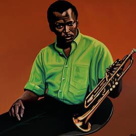 Miles Davis Painting 2 by Paul Meijering