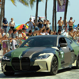 Military BMW Car at a Car Show  by Dianna Tatkow