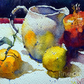 Milk jug and clementine by Andre MEHU