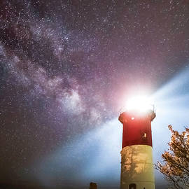 Milky Way and Nauset Lighthouse by Juergen Roth