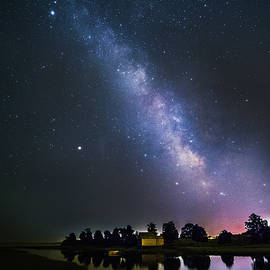 Milky Way over Cape Cod Salt Pond Bay by Juergen Roth