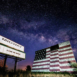 Milky Way over Midway Drive-In by Stephen Stookey