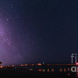 Milky Way Over Venice Fishing Pier, Florida by Liesl Walsh