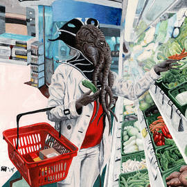 Mind Flayer Grocery Shopping by Ted Helms