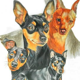 Miniature Pinscher Medley by Barbara Keith