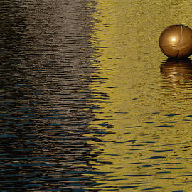 Minimal Golden Buoy by Martin Vorel Minimalist Photography
