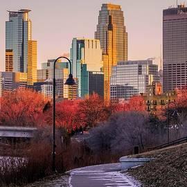 Minneapolis Skyline from River Walk by Susan Rydberg