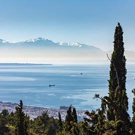 Mirage of Mt Olympus Dwarfs Salonica by IC Papachristos