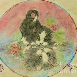 Mirror Image Tuxedo Cat by Christy Saunders Church