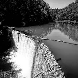 Mirror Lake in Arkansas Black and White by Judy Vincent