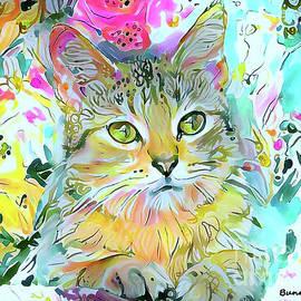 Miss Kitty in the Garden by Bunny Clarke