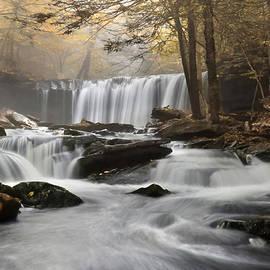 Misty Golden Oneida Falls by Lori Deiter